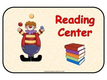 Circus learning center signs