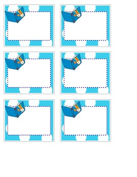 Circus or Carnival Classroom Book Tub Labels