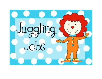 Circus or Carnival Job Chart, Welcome Sign, & More