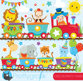Circus party train clipart commercial use, graphics, digital clip art - CL854