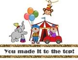 Circus themed Behavior Management Clip Chart PBIS