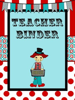 Circus themed Binder Pack