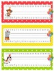Circus themed deskplates with lowercase abcs and numbers to 20