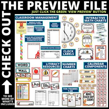 CIRCUS THEMED Classroom Decor EDITABLE