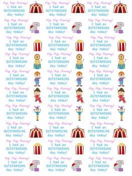 Circus Clip Chart Packet (Editable)