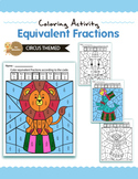 CircusThemed - Equivalent Fractions Color by Code