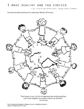 Cirle of Friends Dot-to-dot