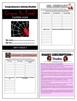 Cirque Du Freak Comprehension Activities Booklet!