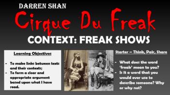 Cirque Du Freak - Context: Freak Shows!