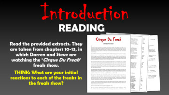 Cirque Du Freak - Describing the Freak Show!