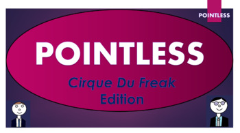 Cirque Du Freak Pointless Game! (and template to create your own games!)