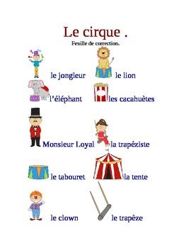 Cirque: game-flashcards-writing activity