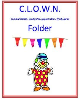 Cirucs Theme Take Home Folder Cover