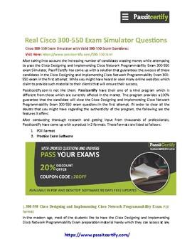 Cisco 300-550 NPDESI [2019] Exam Dumps Questions