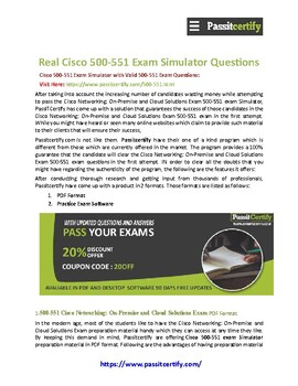 Cisco 500-551 [2019] Exam Dumps Questions Experts Are Here To Help You!