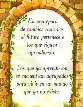 Poster Cita reflexiva de Educación en Español Spanish