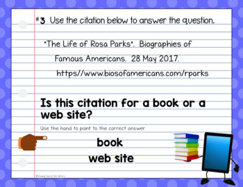Citation Review Activities - for Google Slides