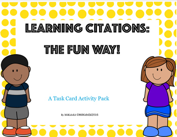 Citation Stations Learn How To Cite Sources The Fun Way Tpt