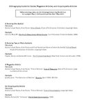 Citation Worksheet for Books