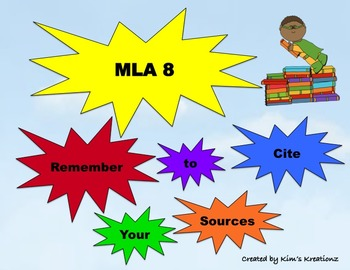 MLA 8 Remember to Cite Your Sources