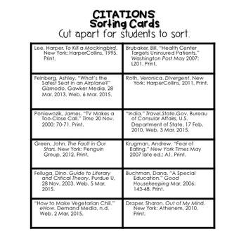 Citations Activity