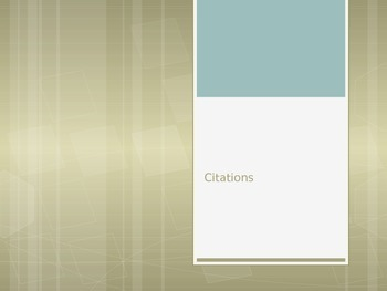 Citations PowerPoint and Worksheet