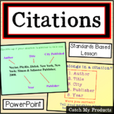 Citing Sources : Citations from Books for Bibliography in Power Point