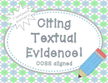 Cite Text Evidence