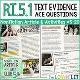 Cite Text Evidence RI.5.1 | Responsible Citizenship Article #5-20