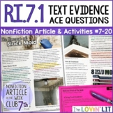 Cite Text Evidence RI.7.1   The Dangers of Toxic Black Mold Article #7-20