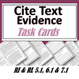 Cite Text Evidence Task Cards using the A.C.E Method