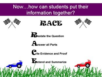 RACE into Writing using Text Evidence!