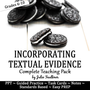 Citing Textual Evidence Lesson, Complete Teaching Pack wit