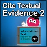 Cite Textual Evidence Exercises 2