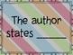 Cite The Evidence Sentence Starters