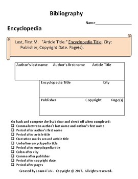 cite your source bibliography mla format by learn4fun tpt