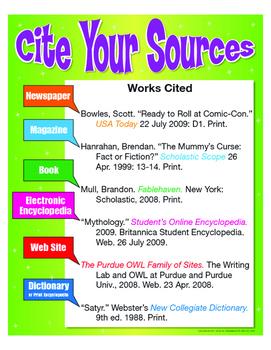 """Cite Your Sources- 18"""" x 23"""""""