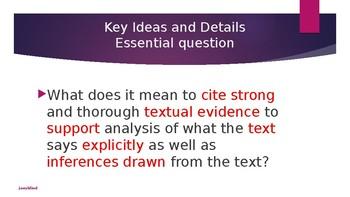 Cite textual evidence
