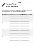 Cite the Text: Your Evidence