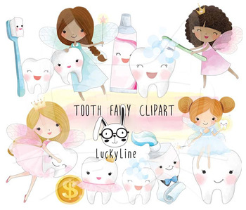 Cite Tooth Fairy Clipart Instant Download Png File 300 Dpi By Luckyline