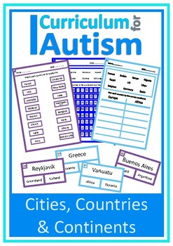 Cities, Countries & Continents, Geography, Autism Special Education
