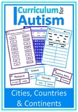 Cities Countries Continents Geography Autism Special Education