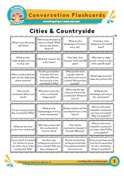 Cities & Countryside - Conversation Flashcards