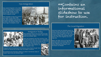 Cities and Immigration Interactive Notebook