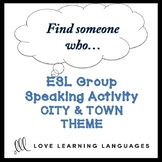 Cities and Towns: ESL - ELL Group Speaking Activity:  Find