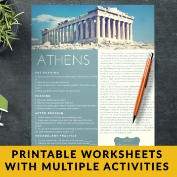 Cities and their People - ESL Reading Bundle - Athens, Jerusalem & Christchurch