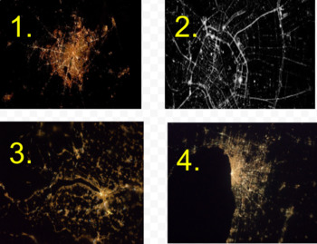 Cities at Night From Space