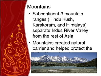 Cities in the Indus River Valley - Early River Valley Civilization