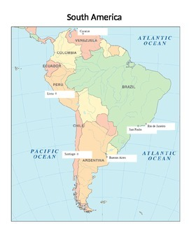 Cities vs. Countries Sort - South America