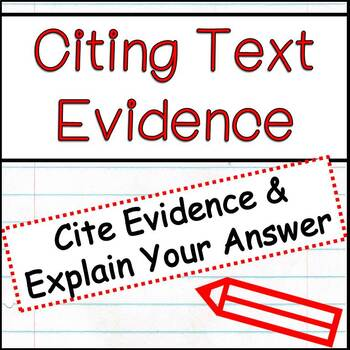 Citing Text Evidence/ Open Ended Responses
